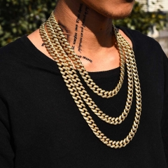 12mm 14K Gold Iced Cuban Chain - Jeupeter