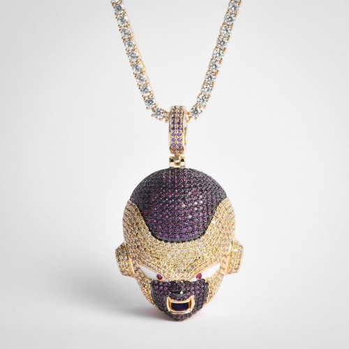 14K Gold Iced Frieza Pendant - Jeupeter