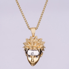 14K Gold Iced Naruto Pendant - Jeupeter