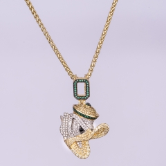 14k Gold Iced Out Little Duck - Jeupeter