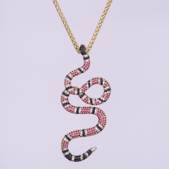 14k Gold Twisted Snake Pendant - Jeupeter
