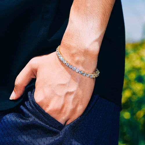 5mm 14K Gold Tennis Bracelet - Jeupeter